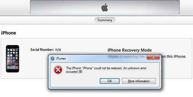 """Как лечить в Apple iPhone """"Error 9""""? Ошибка 9 лечится!"""