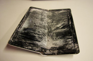Выпрямление вмятин на iPad