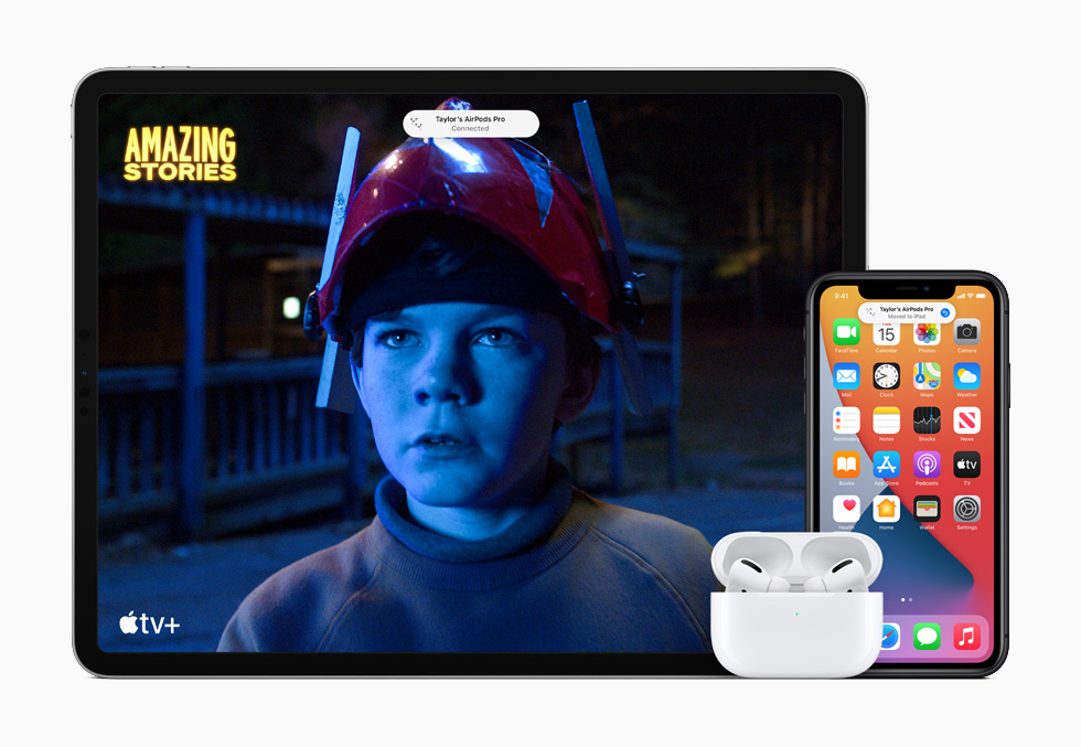 Легко переключайте звук AirPods или AirPods Pro между iPhone, iPad и Mac с автоматическим переключением устройств.