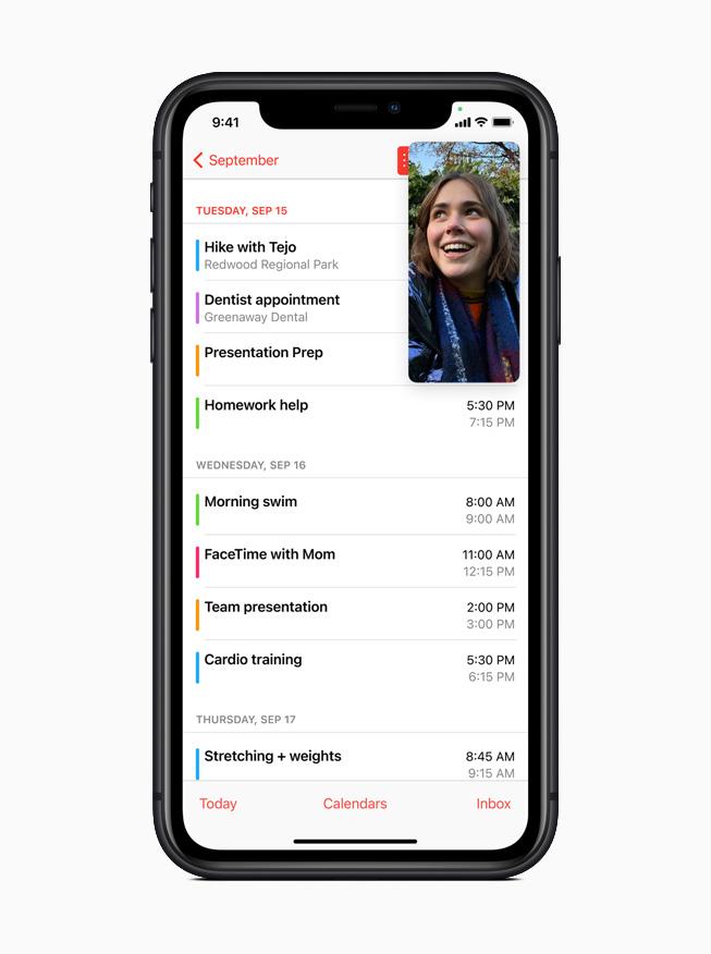 С помощью функции «Картинка в картинке» пользователи могут смотреть видео или принимать вызовы FaceTime, используя другое приложение.