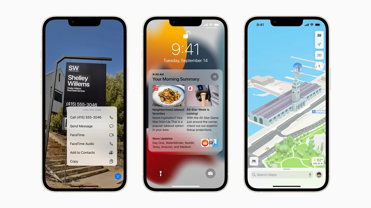 iOS 15 представляет Live Text с использованием интеллекта на устройстве, переработанных уведомлений, обновлений для Карт и многого другого.